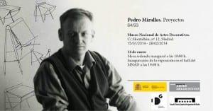 Invitación de la exposición de Pedro Miralles.