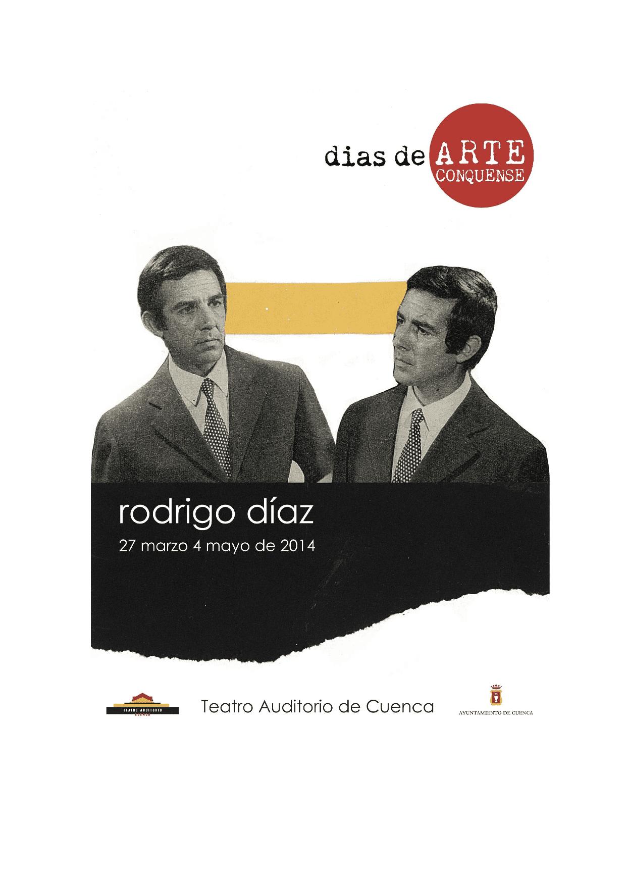 Invitación Rodrigo Díaz-1. Días de Arte Conquense en el Teatro-Auditorio_
