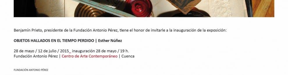 'Objetos hallados en el tiempo perdido', de Esther Núñez, en la Fundación Antonio Pérez, Cuenca