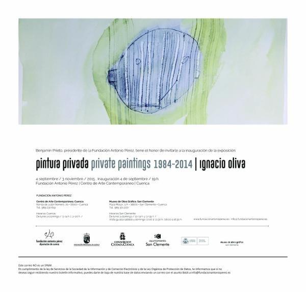 Ignacio Oliva. 'Pintura privada 1984-2014'