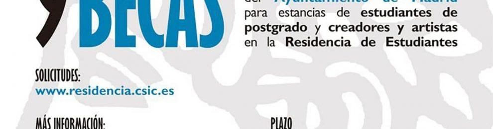 Becas del Ayuntamiento de Madrid en la Residencia de Estudiantes