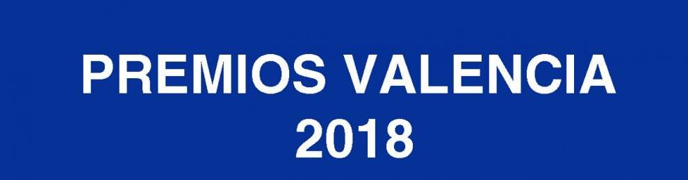 Premios Valencia 2018. Ensayo, poesía y narrativa.