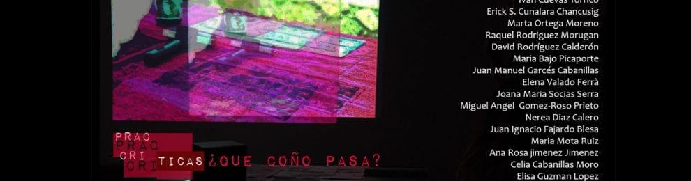 Exposición Prácticas críticas ¿Qué coño pasa? Prácticas Artísticas en la Esfera Pública